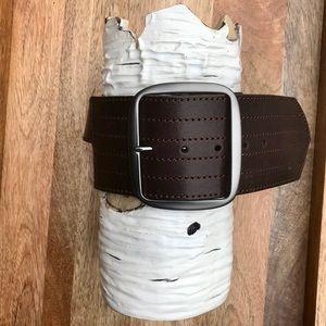 Linea Pelle brown leather belt. Festival piece.